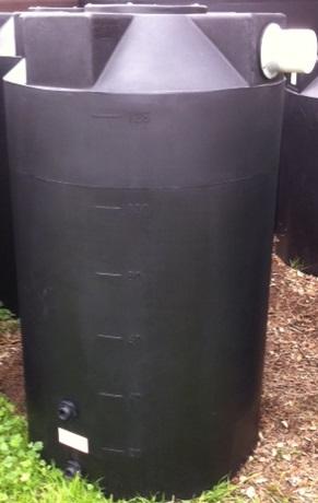 125 Gallon Black Rain Harvest Tank