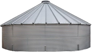 Contain Water Systems 55249 Gallon Metal Corrugated Steel Rainwater Tank