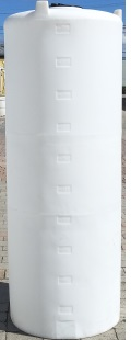 250 Gallon Vertical Plastic Storage Tank  - Natural