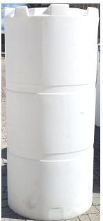 300 Gallon Vertical Plastic Storage Tank  - Natural