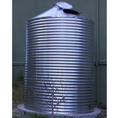 3400 Gallon Corrugated Steel Complete Rainwater Tank