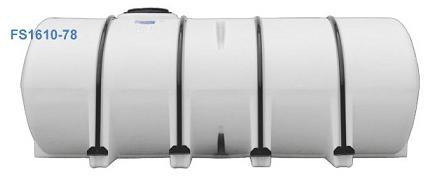 1610 Gallon Black Horizontal Leg Tank