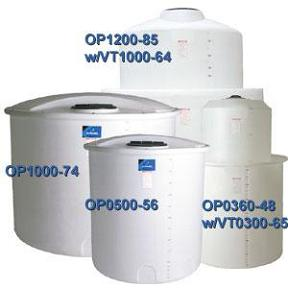 1350 Gallon PE Open Top Cylindrical Tank