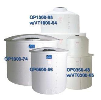 1500 Gallon PE Open Top Cylindrical Tank