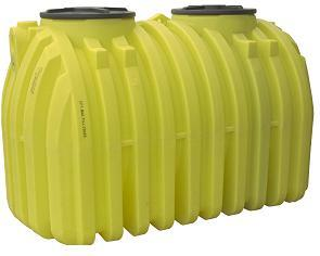 1000 Gallon Two Compartment Plastic Septic Tank