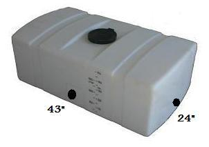 LP0050 RT 50 Gallon Low Profile Auto Detail Tank