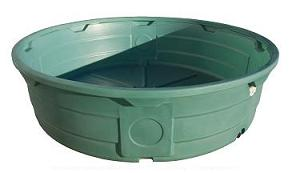 610 Gallon Green Poly Round Stock Tank