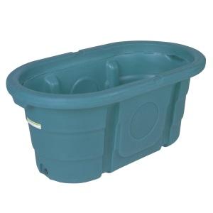 100 Gallon Poly Stock Tank | Green | Oval