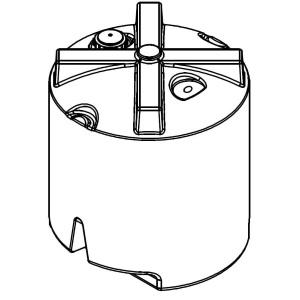 180 Gallon Vertical Plastic Storage Tank