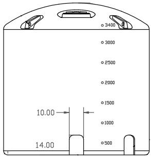 3400 Gallon Ace Roto Mold Vertical Plastic Storage Tank