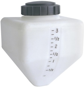 "4 Gallon Cone Bottom Specialty Rinse Tank 5"" Lid"