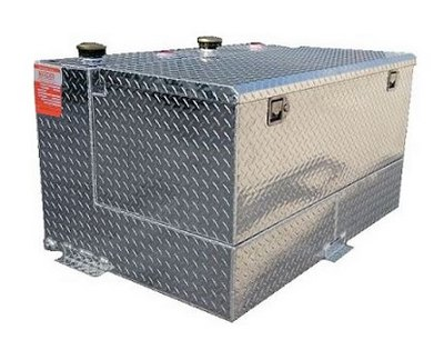 DOT 95 gallon split refueling tank and toolbox combo - 47 gal/47gal
