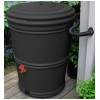50 Gallon Black  Rain Barrel - Recycled Plastic - 6 Pack