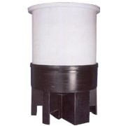 Polypropylene Cone Bottom Tank with Poly Stand