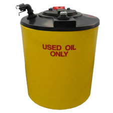 200 Gallon Double Wall Waste Oil Tank w/ Oil Level Gauge