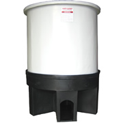 350 Gallon Cone Bottom Open Top Tank w/ Poly Stand