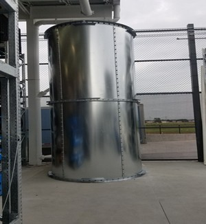 10,990 Gallon Climate Tank Galvanized with Liner
