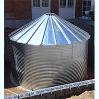 Contain Water Systems 9592 Gallon Metal Corrugated Steel Rainwater Tank
