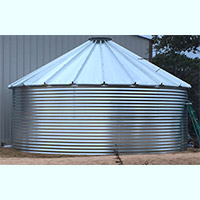 Contain Water Systems 18800 Gallon Metal Corrugated Steel Water Storage Tank