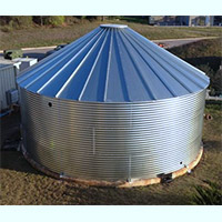 Contain Water Systems 24555 Gallon Metal Corrugated Steel Water Storage Tank