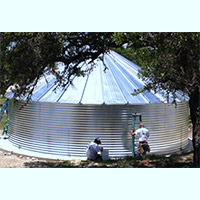 Contain Water Systems 64841 Gallon Metal Corrugated Steel Water Storage Tank