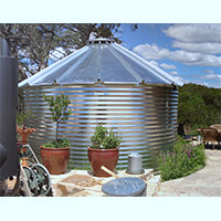 Contain Water Systems 780 Gallon Metal Corrugated Steel Rainwater Tank