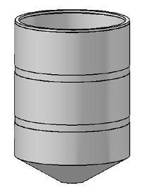 190 Gallon Open Top Cone Bottom Tank