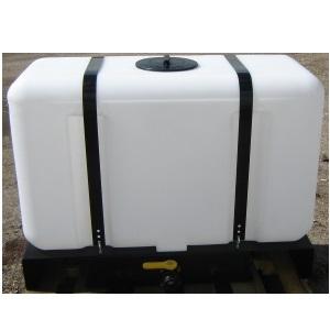 100 Gallon Rectangular Flat Bottom Tank w/ Skid