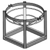 "Stand for CRMI 30"" Diameter Cone Bottom Tanks"