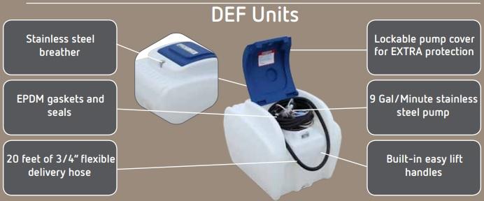Diesel Exhaust Fluid Tanks Portable Def Tanks