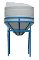 900 Gallon Cone Bottom HD Tank w/ Stand