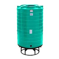 1100 Gallon Cone Bottom Liquid Storage Tank (Without Stand)