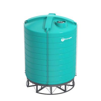 10000 Gallon 15 Deg Cone Bottom Tank (Includes Stand)