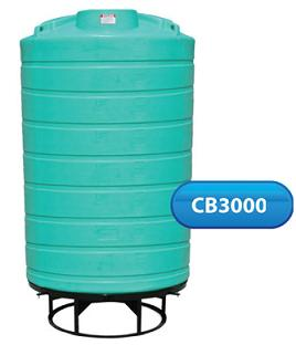 3000 Gallon 15 Deg Cone Bottom Tank (Includes Stand)