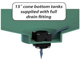 10000 Gallon 15 Deg Cone Bottom Tank (Includes Stand)