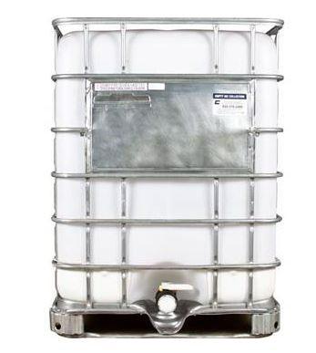 330 Gallon Reconditioned Washout Tote - Viton Gasket, Camlock / QD