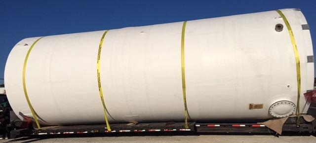 fiberglass tank on trailer