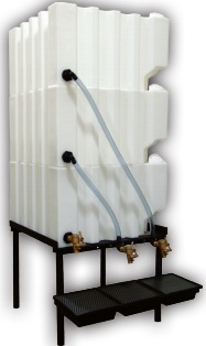 120 Gallon Tote-A-Lube / Fluidall Lube Oil Tank System (3 Tanks)