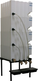 70 Gallon Tote-A-Lube / Fluidall Lube Oil Tank System (4 Tanks)