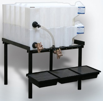 35 Gallon Tote-A-Lube / Fluidall Lube Oil Tank System (2 Tanks)
