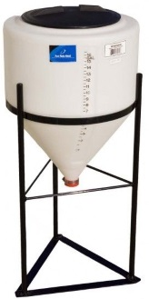 15 Gallon Cone Inductor Tank *Fully Draining*