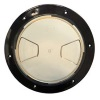 "8"" Inspection Lid - Black Collar, Clear Lid"