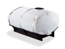 200 Gallon Elliptical Skid Mounted Tank