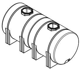 1800 Horizontal Leg Tank (w/ sump)