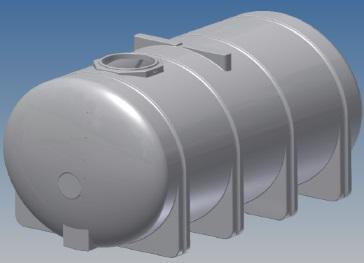 3250 Gallon Heavy Duty Horizontal Leg Tank