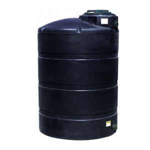 1000 Gal Black Plastic Water Storage Tank