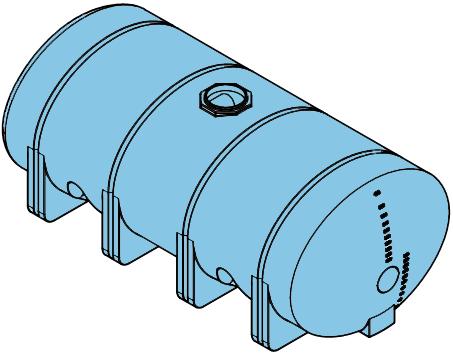 4035 Gallon Heavy Duty Elliptical Leg Tank