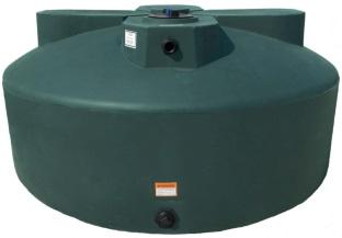 1525 Gal Green Plastic Water Storage Tank