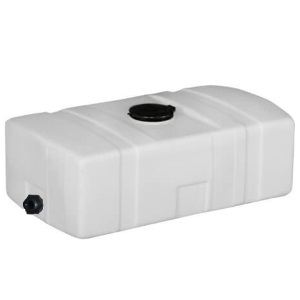 Flat bottom plastic utility tank