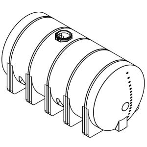 5025 Gallon Horizontal Leg Tank